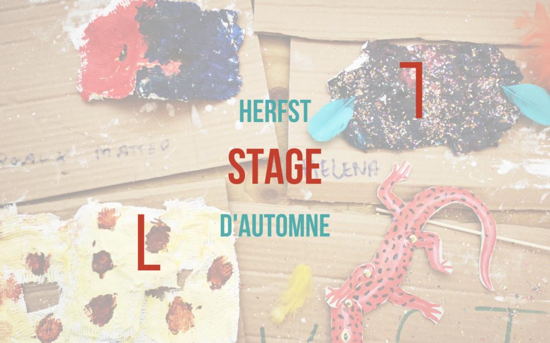 Stage de Toussaint  1 – 5 novembre 2021
